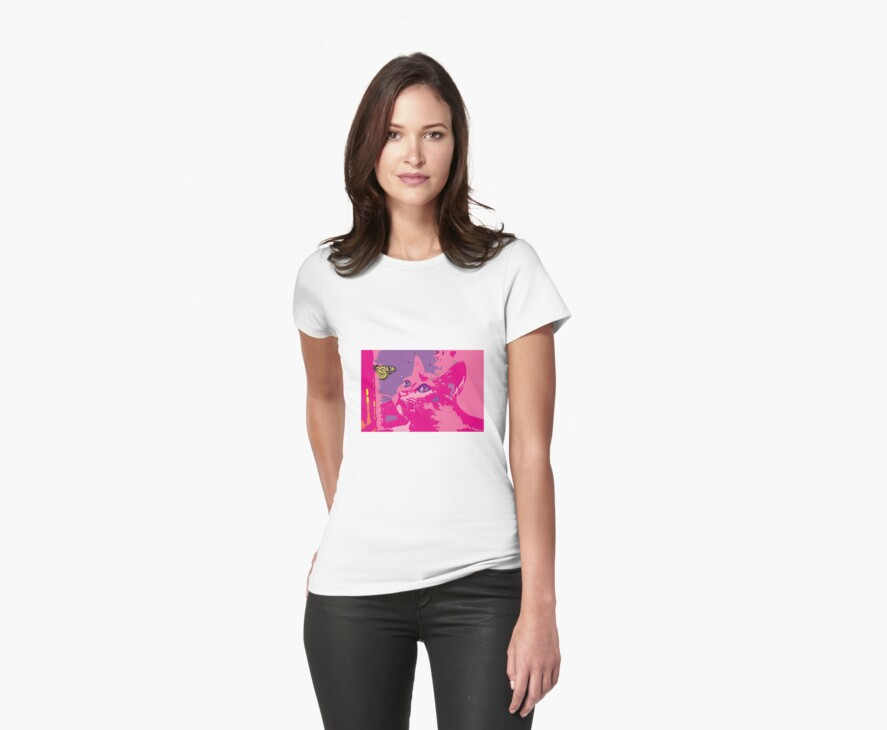Pink Kitten Tee Shirt - Fit for a Princess by NZaineDesign