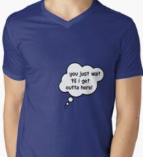 Pregnancy Message from Baby - You Just Wait Til I Get Outta Here! by Bubble-Tees.com Men's V-Neck T-Shirt