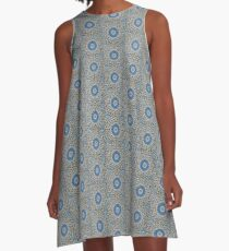 Blue Moroccan Mosaic A-Line Dress