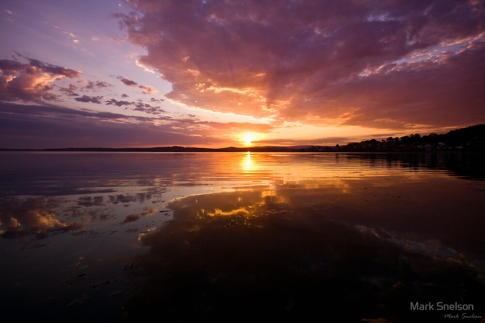 Warners Bay Sunset 7 by Mark Snelson