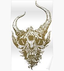 Bigfoot skull Poster