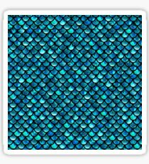 Mermaid Scales - Turquoise Blue Sticker