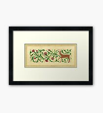 Roe Deer Among Carnations Framed Print