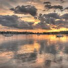 Sunset In Silver by Nancy Richard