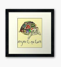 Respect nature - Graffiti Tortoise Framed Print