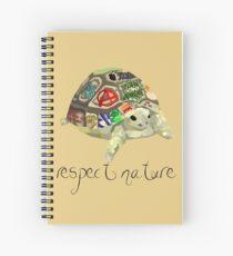Respect nature - Graffiti Tortoise Spiral Notebook