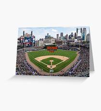 Detroit Home of Baseball Fever Greeting Card
