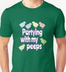 Easter Theme: Happy Easter Shirt For Kids Women Men  Eggs Bunny: Partying With My Peeps Unisex T-Shirt