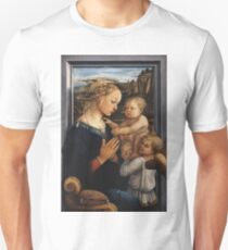 Filippo Lippi, Madonna and Child with Two Angels Unisex T-Shirt