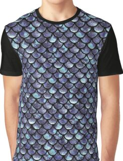 Mermaid Scales - Purple Blue Graphic T-Shirt