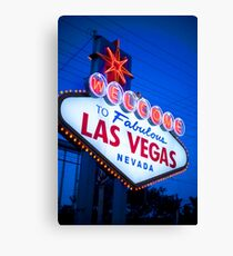 To fabulous Las Vegas, Nevada Canvas Print