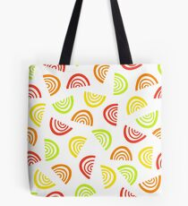 Abstract fruit segment pattern. Simple seamless summer background. Tote Bag