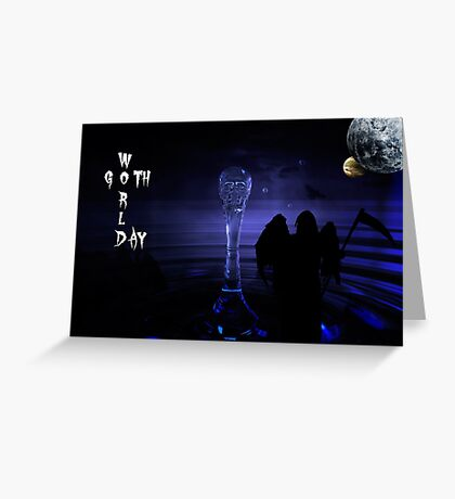 Word Goth Day (Grim Reaper) Greeting Card