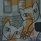 The Kitty Conspiracy (orange/blue) by johnandwendy