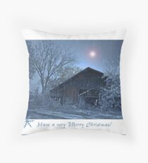 Moonlit Christmas Throw Pillow