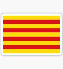 senyera, bandera de catalunya, flag of catalonia Sticker
