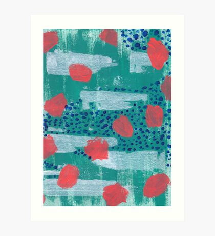 abstract coral Art Print