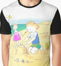 LET´S GO TO THE BEACH, KIDS! · ¡VAMOS A LA PLAYA, NIÑOS!  Camiseta gráfica
