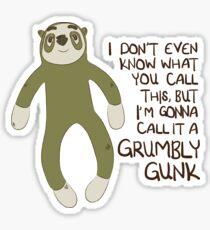 Grumbly Gunk Sticker