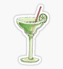 Illustrated Watercolor Margarita :: Bar Drink Sticker