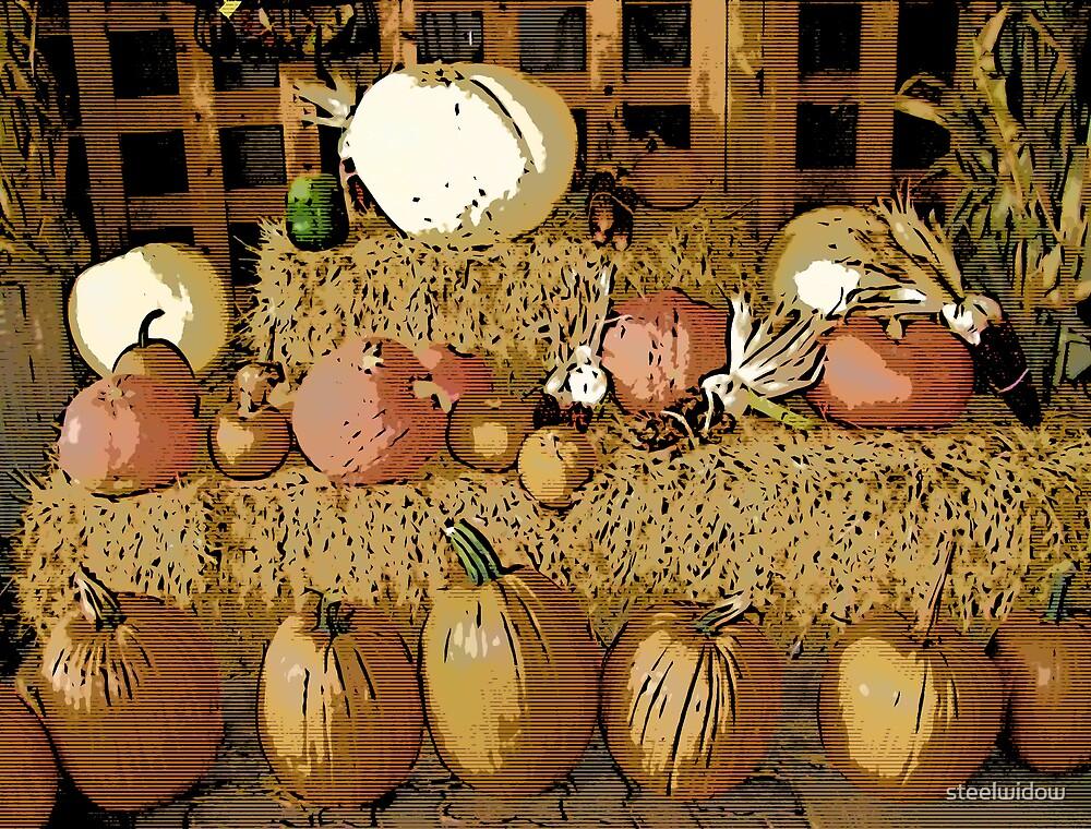 Comic Abstract Pumpkins by steelwidow