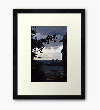 Window view Framed Print