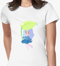 Leaf Girl Women's Fitted T-Shirt