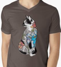 Cat in Lotus Tattoo T-Shirt