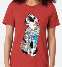 Katze in Lotus Tattoo Vintage T-Shirt