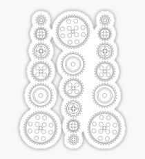 Cog Gear Wheels Pattern Sticker