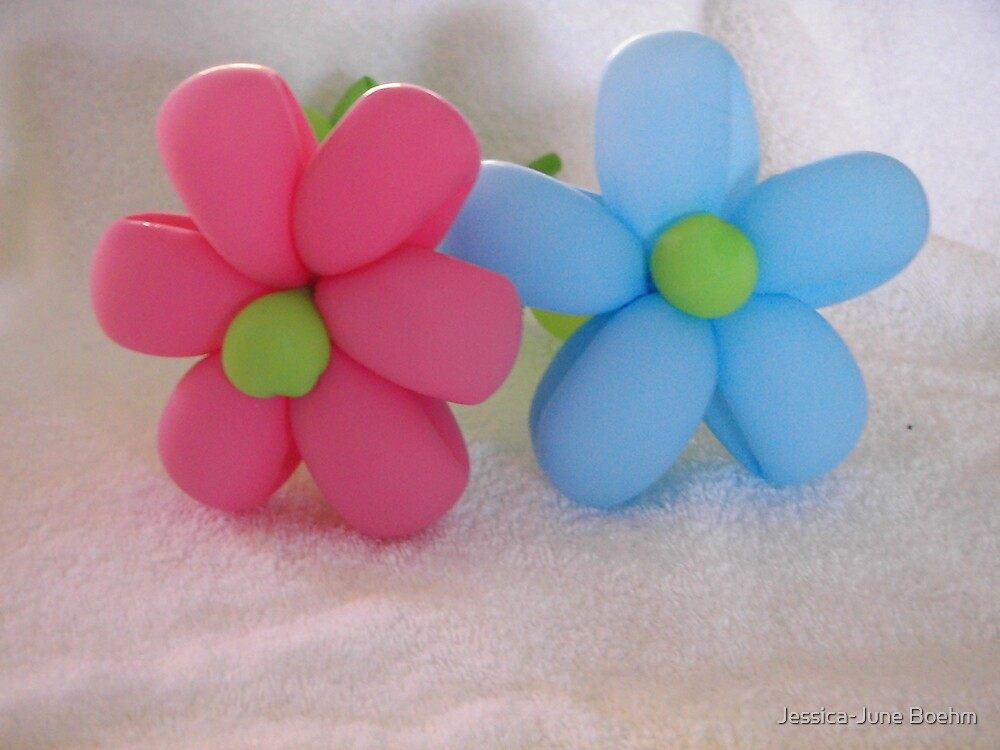 Balloon Flowers by Jessica-June Boehm