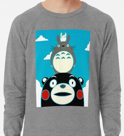 Kumamon, Totoro and small Totoro Lightweight Sweatshirt
