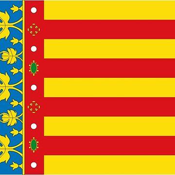 Valencian Flag, Bandera de Valencia by Wyllydd