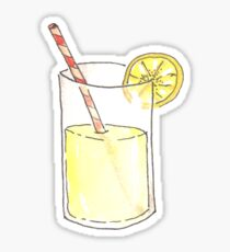 Lemonade Watercolor Illustration Sticker Sticker