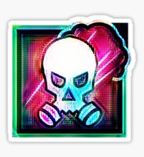 80's Smoke Icon Sticker