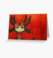 Sinister Smile Greeting Card