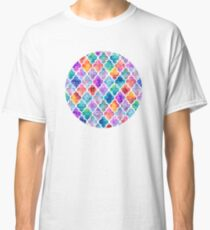 Colorful Watercolor Moroccan Pattern Classic T-Shirt