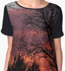 Spring Eve Sunset  Women's Chiffon Top