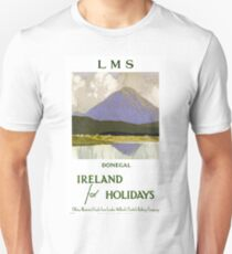 Ireland Donegal Restored Vintage Travel Poster Unisex T-Shirt