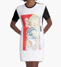 Angel of Hope Graphic T-Shirt Dress