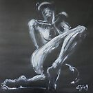 Black And White Nude Posture by CarmenT