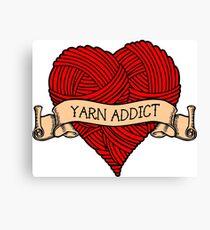 Yarn addict tattoo Canvas Print