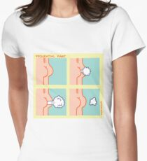 Sequential Fart comic Women's Fitted T-Shirt