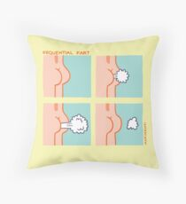 Sequential Fart comic Throw Pillow