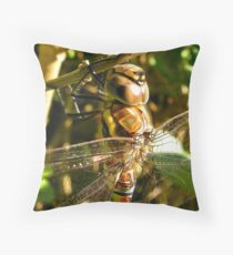 macro dragonfly Throw Pillow
