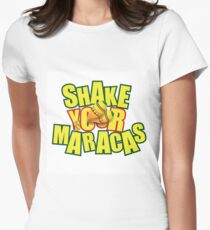Shake your maracas design Women's Fitted T-Shirt
