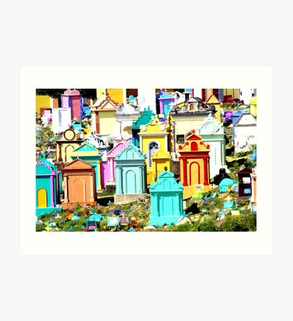 A colourful way to go Art Print