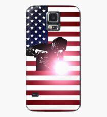 Schweißen: Schweißer & amerikanische Flagge Hülle & Klebefolie für Samsung Galaxy