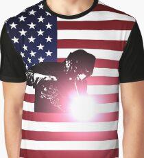 Welding: Welder & American Flag Graphic T-Shirt