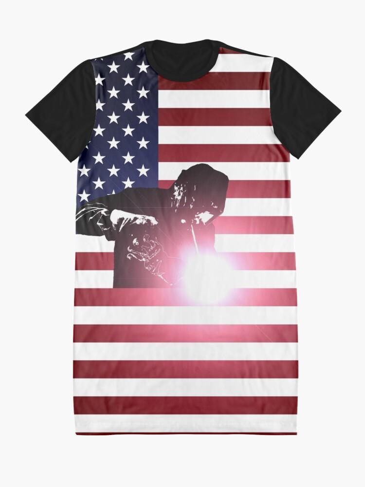 Alternative Ansicht von Schweißen: Schweißer & amerikanische Flagge T-Shirt Kleid